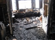 Fire damage through out the property